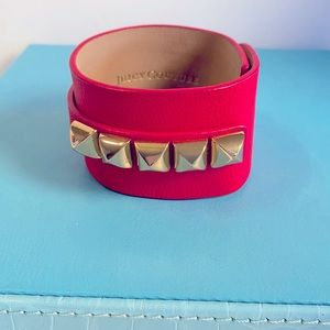 Juicy Couture Fuchsia Leather Cuff
